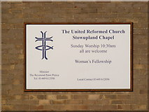 TM0659 : The United Reformed Church, Stowupland Notice Board by Adrian Cable