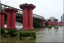 TQ3180 : Blackfriars railway bridges by Graham Horn