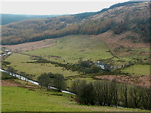 SN8056 : Cwm Tywi and Dolgoch Youth Hostel, Ceredigion by Roger  Kidd