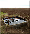 TA1832 : Water trough at the side of a field by Andy Beecroft