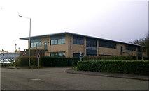 TL8364 : Office building, Dettingen Way, Bury St. Edmunds by John Goldsmith
