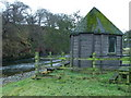 NY5529 : Fisherman's hut next to the River Eamont by Matt Eastham