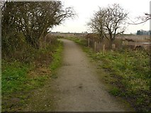 SK5031 : Footpath looking back to the Gravel Pits by Andy Jamieson