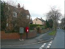 SE1421 : Letter box, Woodhouse Lane, Rastrick by Humphrey Bolton