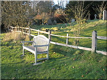 SU8014 : The Millennium Bench at East Marden by Basher Eyre