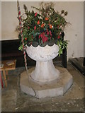 SU8014 : The font within St Peter, East Marden by Basher Eyre