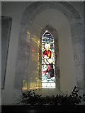 SU8014 : Winter afternoon  sun shining through window at St Peter, East Marden by Basher Eyre