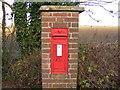 TM2570 : Brundish Crown Victorian Postbox, Crown Corner by Adrian Cable