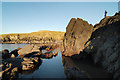 SH1630 : Rocks at the north end of Whistling Sands by Dave Croker