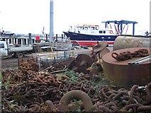 TQ6674 : Port of London Authority Docks by David Anstiss