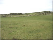 SH4094 : View across small clifftop fields towards Yr Erw by Eric Jones