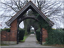 SK6443 : The gate to St. Helen's churchyard by johnfromnotts