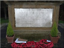 SK6443 : The War Memorial detail 3 by johnfromnotts