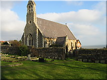 TR3748 : Kingsdown church on the cliff top by Nick Smith