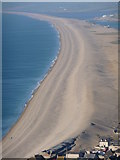 SY6774 : Chesil Beach: view from Portland Heights by Chris Downer