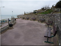 SZ1191 : Boscombe: benches overlooking pier by Chris Downer