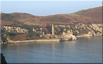 SH4094 : Porth Wen Brick Factory Works at high water. by Eric Jones