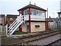 SK8508 : Oakham signal box by gary faux