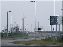 NS3174 : A8 in Port Glasgow by Thomas Nugent