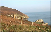 SH4094 : The cliff top above the Porth Wen Brick Works by Eric Jones