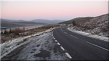 NH1804 : A87 above Loch Loyne by Richard Webb