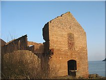 SH4094 : Porth Wen Brick Works -  workshops and attached engine house by Eric Jones