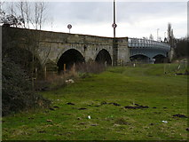 SK4731 : Bridges at Sawley over the Trent by Andy Jamieson