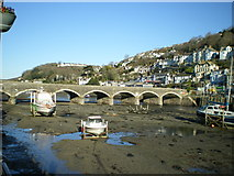 SX2553 : Looe Bridge from the West Quayside by Richard Law