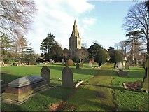 SK6443 : Saint Helen's Church and yard, Burton Joyce by johnfromnotts