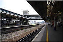 SX9193 : Platform 1, St David's station, Exeter by N Chadwick