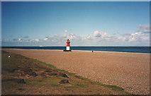 NX4605 : Point of Ayre lighthouse by Trevor Rickard