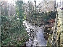 SE1307 : The River Holme alongside Woodhead Road, Holmfirth by Humphrey Bolton