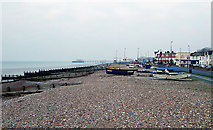 TQ1602 : East Worthing Beach, West Sussex by Roger  Kidd