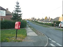 SE1321 : Letter box, Malham Road, Field Lane Estate, Rastrick by Humphrey Bolton