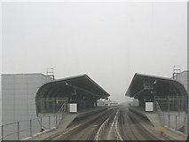 TQ4080 : West Silvertown DLR station by Stephen Craven