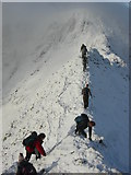 NY3415 : Striding edge in December by Nick Pankhurst