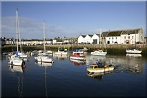 NX4736 : Isle of Whithorn Harbour by George Gilroy