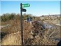 TQ7458 : Footbridge over M20, Looking North by David Anstiss