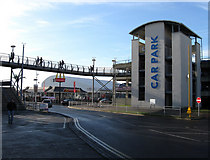 TQ3303 : Car Park, Brighton Marina by Simon Carey