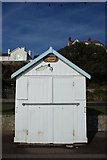 TM3034 : Beach hut on Felixstowe beach by Oxymoron
