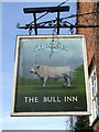 TL8046 : The Bull Inn sign by Keith Evans