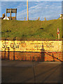 TQ2604 : Painted Sign, Basin Road North by Simon Carey