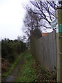 TM4058 : Footpath to Snape Warren by Geographer