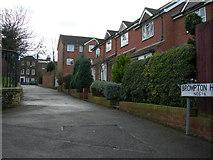 TQ7668 : Path up Brompton Hill, near 1 - 6 by Danny P Robinson