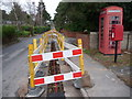 SY9389 : Sandford: postbox № BH20 187 and phone, Keysworth Drive by Chris Downer