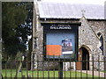 TM2654 : St.Mary's Church, Dallinghoo, Notice Board by Geographer