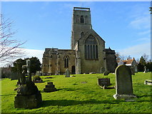 ST4347 : St. Mary's church, Wedmore by Jonathan Billinger
