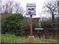 TM1747 : Westerfield Village Sign by Adrian Cable