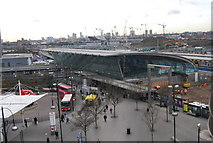 TQ3884 : 2012 Olympic Park viewed over Stratford Station from the roof of The Stratford Centre by N Chadwick