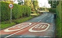 J2153 : Road markings, Dromore by Albert Bridge